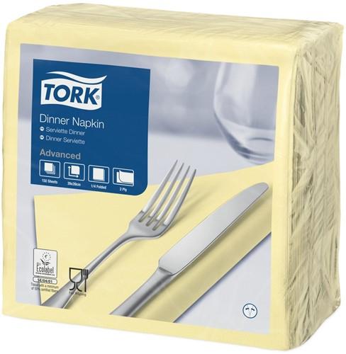 Tork Dinnerservet 39x39cm, 2-laags, 1/4 vouw, Champagne, 12 x 150 stuks