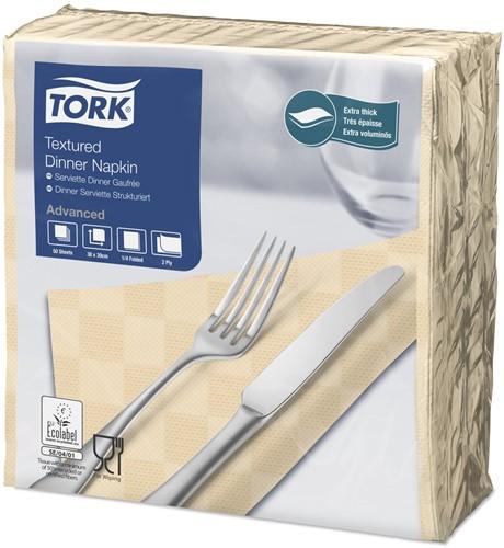 Tork Textured Dinnerservet 2-laags 1/4-vouw Zand
