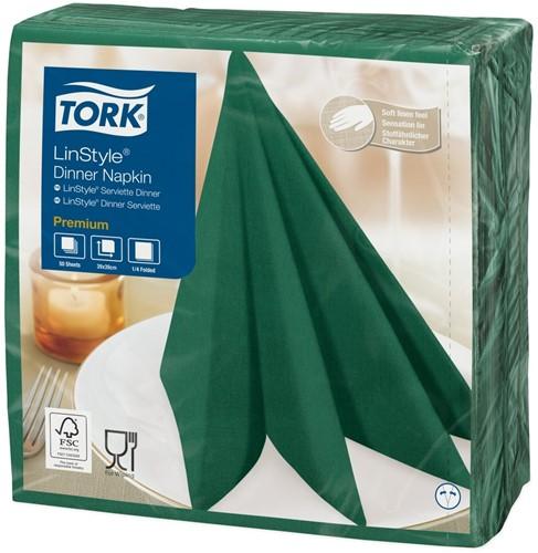 Tork Premium Linstyle Diner Servet, 39x39cm, 1/4-vouw, Mountain Pine