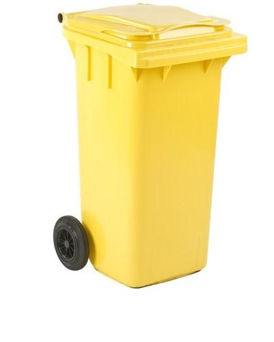 Mini-container, 120 L, Geel