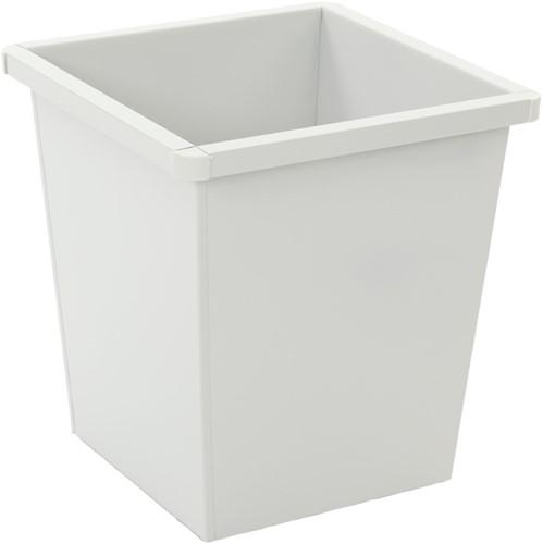 Vierkant Tapse Papierbak, 27 L, Wit