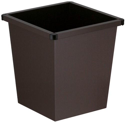 Vierkant Tapse Papierbak, 27 L, Zwart
