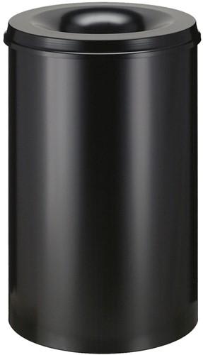Vlamdovende papierbak, 110 L, Zwart