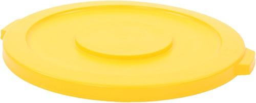 Rubbermaid Ronde Brute Container Deksel, 166,5 L, Geel