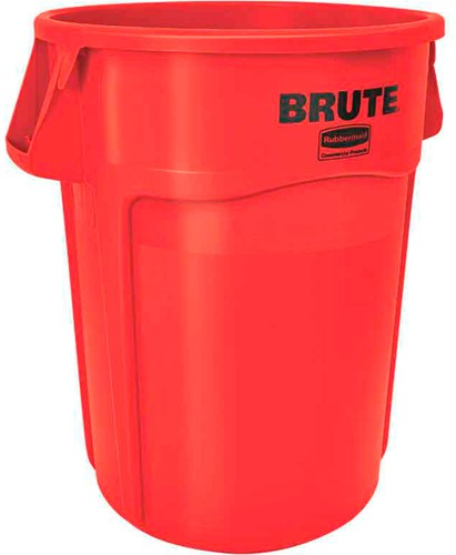 Rubbermaid Ronde Brute Container, 166,5L, Rood