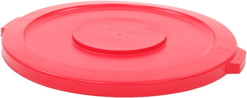 Rubbermaid Ronde Brute Container Deksel, 121,1 L, Rood