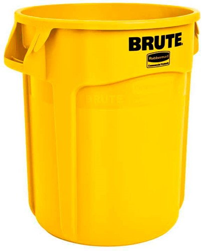 Rubbermaid Ronde Brute Container, 75,7L, Geel