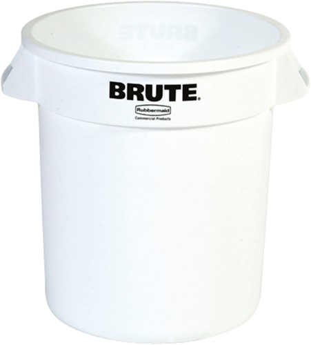 Rubbermaid Ronde Brute Container, 37,9L, Wit