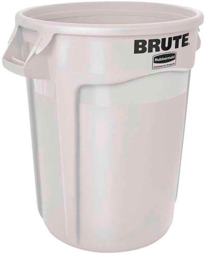 Rubbermaid Ronde Brute Container, 121,1 L, Wit