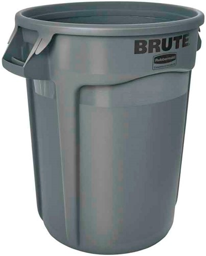 Rubbermaid Ronde Brute Container, 121,1 L, Grijs