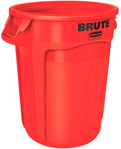 Rubbermaid Ronde Brute Container, 121,1L, Rood