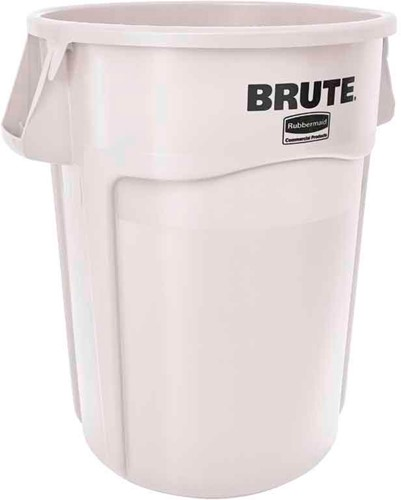 Rubbermaid Ronde Brute Container, 166,5L, Wit