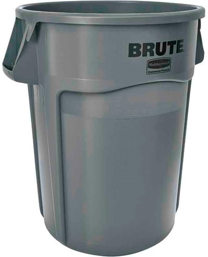 Rubbermaid Ronde Brute Container, 166,5L, Grijs
