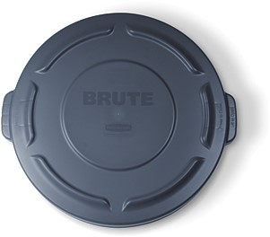 Rubbermaid Ronde Brute Container, Deksel, 37,9L, Grijs