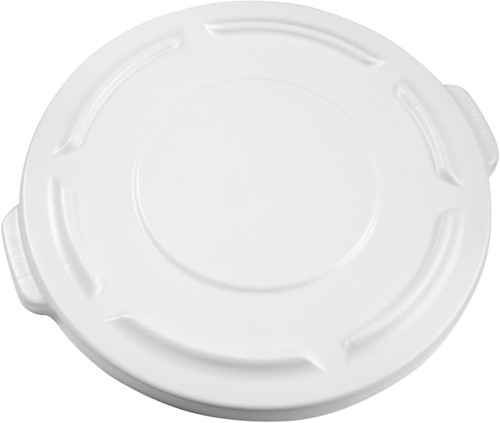 Rubbermaid Ronde Brute Container, Deksel, 75,7L, Wit