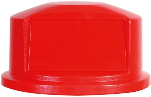 Rubbermaid Brute Dome Deksel, Rood, 121,1 L
