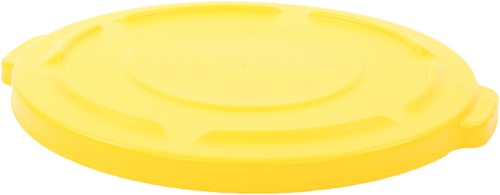Rubbermaid Ronde Brute Container, Deksel, 75,7L, Geel