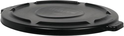Rubbermaid Ronde Brute Container Deksel, 166,5 L, Zwart