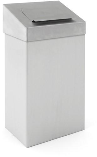Afvalbak met hygiënische top, 18 L, Mat / RVS