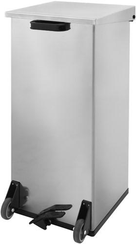 Carro-Kick Mobiele Pedaalemmer, 110 L, RVS