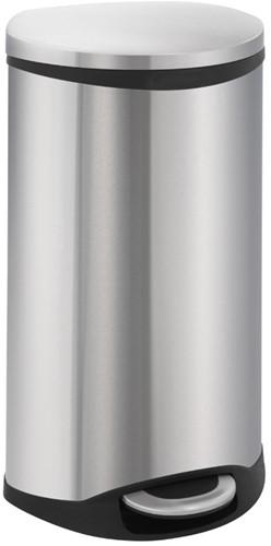 EKO Shell Bin Pedaalemmer, Mat RVS, 30 L