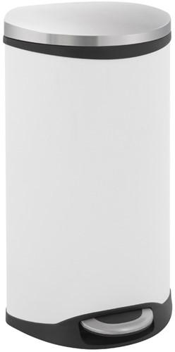 EKO Shell Bin Pedaalemmer, Wit, 30 L