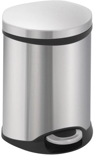 EKO Shell Bin Pedaalemmer, Mat RVS, 6 L