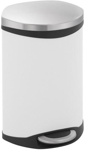 EKO Shell Bin Pedaalemmer, Wit, 10 L