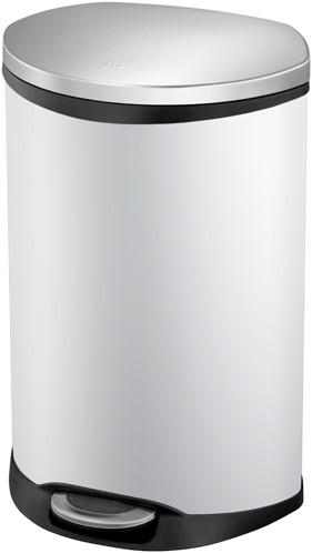EKO Shell Bin Pedaalemmer, Wit, 50 L