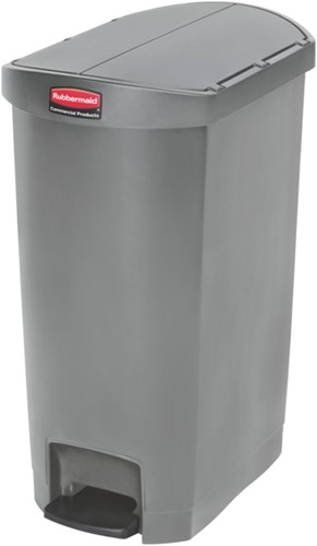 Rubbermaid Slim Jim Step On Container, End Step, Kunststof, 50L, Grijs
