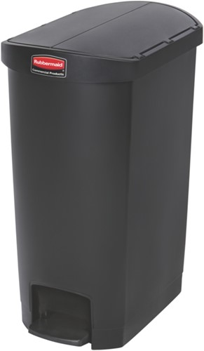 Rubbermaid Slim Jim Step On Container, End Step, Kunststof, 50L, Zwart