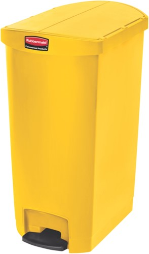 Rubbermaid Slim Jim Step On Container, End Step, Kunststof, 68L, Geel