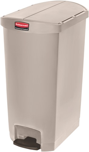 Rubbermaid Slim Jim Step On Container, End Step, Kunststof, 68L, Beige