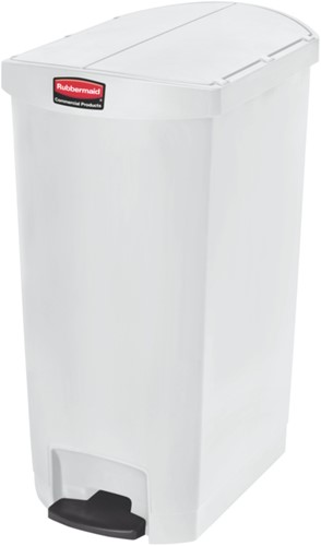 Rubbermaid Slim Jim Step On Container, End Step, Kunststof, 68L, Wit