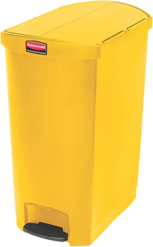 Rubbermaid Slim Jim Step On Container, End Step, Kunststof, 90L, Geel