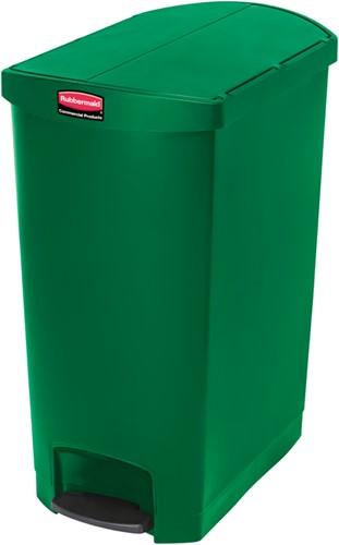Rubbermaid Slim Jim Step On Container, End Step, Kunststof, 90L, Groen