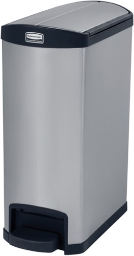 Rubbermaid Slim Jim Step On Container, End Step, RVS, 50L, Zwart