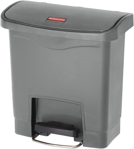 Rubbermaid Slim Jim Step On, Container, Front Step, Kunststof, 15L, Grijs