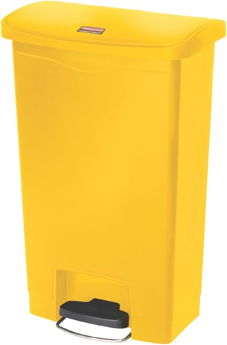 Rubbermaid Slim Jim Step On, Container, Front Step, Kunststof, 50L, Geel