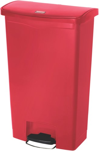 Rubbermaid Slim Jim Step On, Container, Front Step, Kunststof, 68L, Rood
