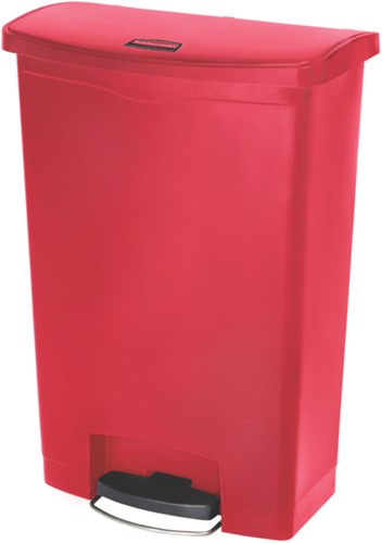 Rubbermaid Slim Jim Step On, Container, Front Step, Kunststof, 90L, Rood