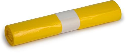 HDPE Afvalzakken, 100L, 58x100 cm, T23, Geel