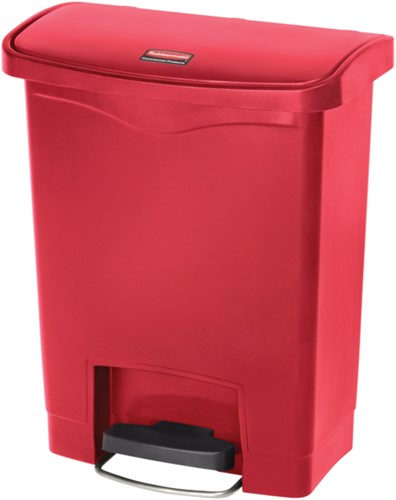 Rubbermaid Slim Jim Step On, Container, Front Step, Kunststof, 30L, Rood