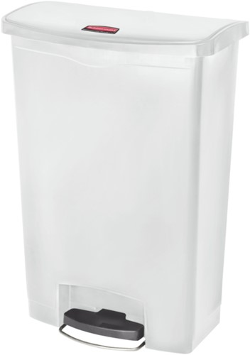 Rubbermaid Slim Jim Step On, Container, Front Step, Kunststof, 90L, Wit