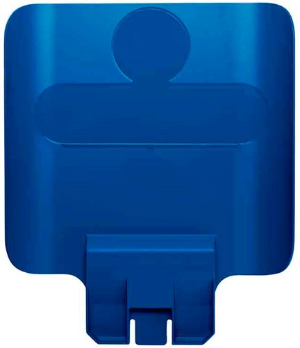 Rubbermaid Paneel voor Slim Jim Recyclingstation, Blauw