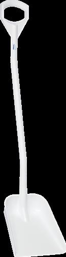 Vikan Ergonomische schop, 1280mm steel, Klein blad, Wit