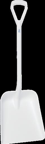 Vikan Ergonomische Schop, D-greep, 1035mm, Groot diep blad, Wit