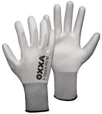 Oxxa Handschoen X-touch PU wit  Mt10, 240 paar