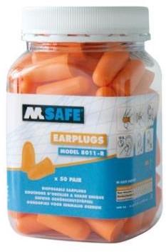 M-Safe Foam Oordop met koord detectable 200 paar