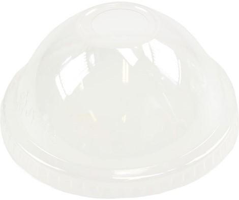Deksel PET Bol Transparant met gat tbv Beker 450 ml